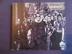 Oasis ' Do You Know What I Mean ' Fully Signed Cd Single X 5 Liam Noel Gallagher