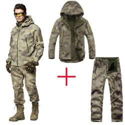 Outdoor Waterproof Jackets Softshell Hunting Outfit Tactical Camping Hiking Suit