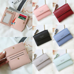 RFID blocking Women#x27;s Bifold Leather Wallet Clutch Cards Holder Small Purse Bag $10.99