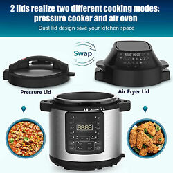 Multifunctional 2-in-1 6l Electric Air Fryer Pressure Cooker Led Touch Display