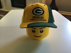 Vtg 90s Green Bay Packers World Champions Cheese Head Citgo Snapback Hat - Cool