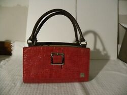 Classic Brown Miche Bag With Red Shell
