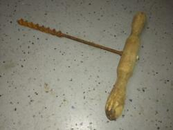 Vintage Antique T Handle Hand Drill Wood Auger Barn Beam Old Farm Tools Tree Tap