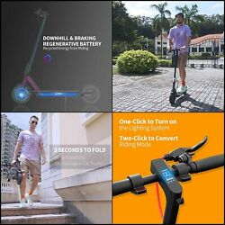 10 Pro Electric Scooter Solid Tires 25 Miles Long-range 19 Mph Folding Commuter