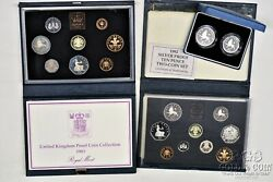 1983 1992 Uk Proof Coin Sets And 1992 10 Pence Silver Proof 2 Coin Set Coas 18722