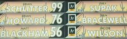 Collection Of 8 Oakland Athletics Locker Tags Mlb Authenticated With Hologram