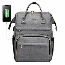 Laptop Backpack for Women Fashion Travel Bags Business Computer 15.6 Inch Grey $45.61