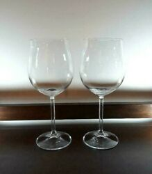 Marquis By Waterford Oversized Red Wine Tulip Crystal Glasses Set Of 2 Rare