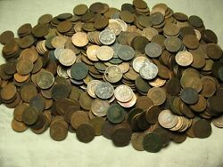 Sale 620+ Indian Head Cent Penny Mixed Dates 1800and039s - 1900and039s Below Average Lot