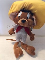 Looney Tunes Speedy Gonzales 20andrdquo Stuffed Plush Six Flags Warner Bros Doll Mouse
