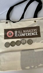Rare Chipotle 2010 All Manager Conference Coins And Tote Bag