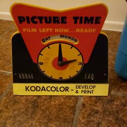 Vintage Kodak Kodacolor Develop And Print Picture Time Sign