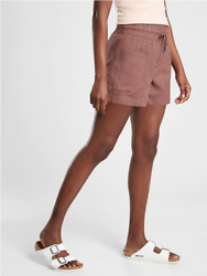 Athleta Cabo Linen 4 Short Size 4 Small Hearth Rose Shorts New Spring 2021