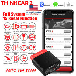 Thinkcar Obd2 Scanner Ios Bluetooth All System Abs Srs Tpms Immo Oil Reset Tool