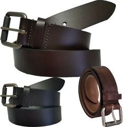 Colonial Belt Men's 38mm Roller Buckle Leather Belts Made In Usa