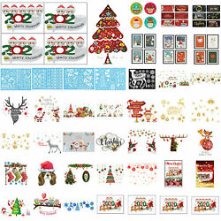 Merry Christmas Wall Stickers Self adhesive PVC Removable Xmas Background Dec S1