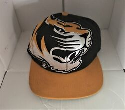 Big Logo The Game Mizzou Tigers Snap Back Hat Black Gold Columbia, Embroidery