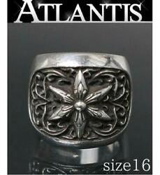 Chrome Hearts Ginza Store Classic Oval Star Ring Silver Sv925 Approximately 16