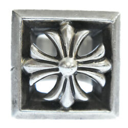 Chrome Hearts Letter Block/letter Block Ch Plus Silver Ring No.11.5 Secondhand