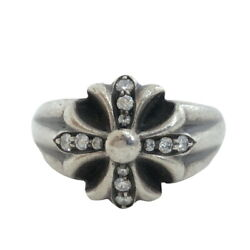 Secondhand Chrome Hearts Ring Small Cut-out Ch Plus Pave Dia Pavedia 14.5 Cutout