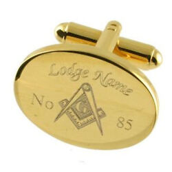 Freemason Cuff Links Engraved Masonic Lodge Name And Number Select Gift Pouch