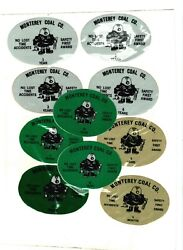 Nice Lot Of 19 Midwest Monterey Coal Co. Coal Mining Stickers 38