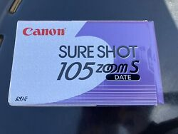 Canon Sureshot 105 Zoom S/af Date 35mm Film Camera Point And Shoot Box And Manuals