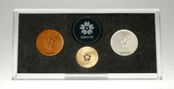 1970 Japan World Exposition Expo 70' 3 Piece Medal Set By The Japanese Mint