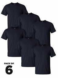 Gildan Big And Tall Basic T-shirt For Men 2000t Navy Tee Value Pack Of 6