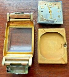 Vintage1950and039s Hamilton Wesley-b 14k Gold Menandrsquos Wristwatch Early Texaco Texas Co
