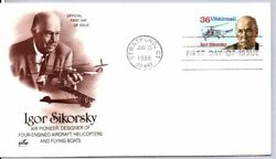 C119 Aviation Pioneer Igor Sikorsky Stamp First Day Of Issue Helicopter