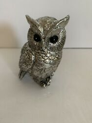 Owl Decor Figurines Metallic 3.5andrdquo Tall Home Decorations Perfect Condition