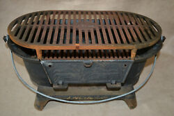 New In Box Vintage Lodge Cast Iron Sportsman Grill - Wildlife Duck Series