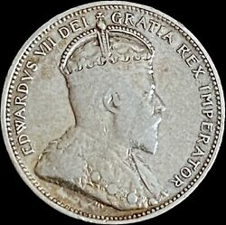 1905 Canada 25 Cents Silver - Sterling Quarter