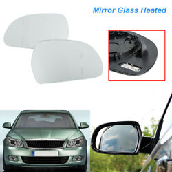 Fit For Audi A6/s6 C6 2009-2011 New Rear View 1 Pair White Heated Mirror Glass
