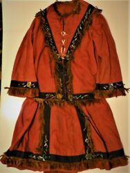 Antique Iroquois American Indian 1890s Child Girl Clothing Museum Quality