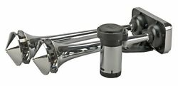 Wolo 418 Powerhouse Dual Trumpet Horns With Roof Mount - 12 V
