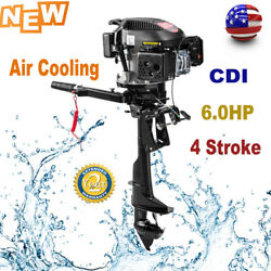 6.0hp 4stroke Heavy Duty Outboard Motor Marine Boat Engine Air Cooling 2500rpm