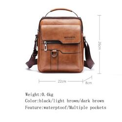 HIGH QUALITY Leather Crossbody Bags for Men Messenger Bag Tote Bag $39.90