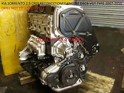 Kia Sorento D4cb 2.5 Crdi Diesel Engine 2007-2010 Vgt Type Fully Reconditioned