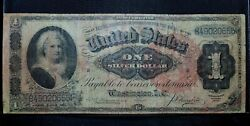 1886 1 Silver Certificate ✪ Vf Very Fine ✪ Martha Note Brown Seal ◢trusted◣