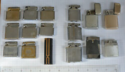 16-lot Vintage 1950s Cigarette Lighter Usa Colibri And Ronson As Is Parts Repair