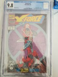 Marvel Comic X-force 2 2nd Appearance Daredevil Cgc 9.8 Nm/mint