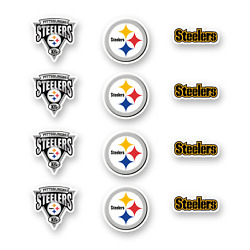 Pittsburgh Steelers Stickers Set Of 12 Decals By 1.5 Inches Vinyl Die Cut Car