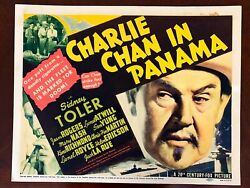 Charlie Chan In Panama - Sydney Toler 1940 Us Title Card - Rare