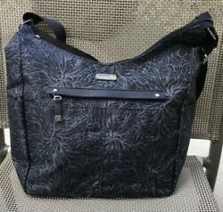 NWT Baggallini All Around Large Hobo Tote Crossbody Midnight Blossom $85 MSRP $31.00