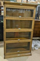 Antique Gunn Furniture Oak 6 Piece Sectional Bookcase
