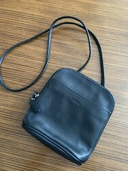 Fossil leather crossbody purse organizer $20.00