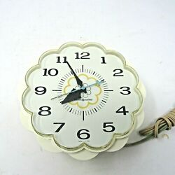 Vintage General Electric Kitchen Wall Clock Usa Model 2150 Works Read