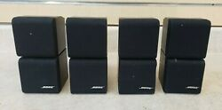 Set Of 4 Bose Acoustimass Cube Speakers W/ Wall Mounts Pre-owned Free Shipping